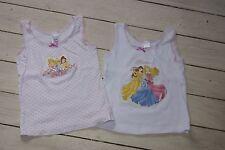 **£** lot 2 chemisettes DISNEY PRINCESSES C&A 3-4 ans