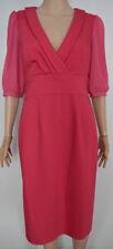 Vestiti da donna rosa lunghezza al ginocchio sintetico