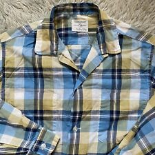 New listing Towncraft Penneys Vintage 50s Small Blue Yellow Loop Shirt Rockabilly Square