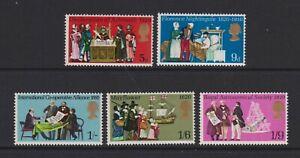 Great Britain/GB - 1970, Anniversaries, 3rd series set - MNH - SG 819/23