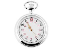 Markenlose Silber Taschenuhren mit 24-Stunden-Zifferblatt