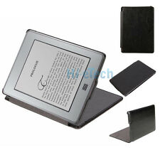 "New Comfortable Leather Case Cover Folio for 6"" Kindle 4 E-book Black"