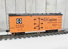 "USA TRAINS / SANTA FE ""El Capitan Coach Streamline West"" WOODEN REEFER"