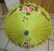 Vintage Asian Japanese Hand Painted Parasol Umbrella