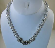 Kirks Folly Timeless Crystal Interch.  Magnetic Necklace sf/metallic silver