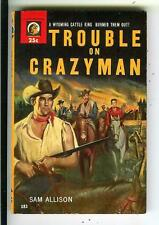 TROUBLE ON CRAZYMAN by Allison, US Lion #183 pulp western vintage pb