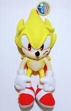 "SEGA Yellow Sonic The Hedgehog 18"" Plush  Backpack Stuffed Figure Kids Toy Gift"