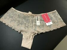 PASSIONATA WHITE NIGHTS SHORT NUDE SIZE M 12-14 SEXY BRIEF SHEER MESH LINGERIE.