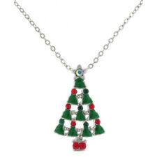 Crystal Enamel Chain Costume Necklaces & Pendants