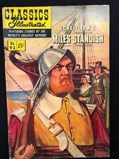 Classics Illustrated #92 Miles Standish by Longfellow (Hrn 92) 1st 1952 Vg+