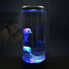 aquarium fish tank jellyfish night light led desktop artificial stand lamp decor