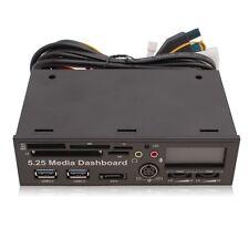 5,25 Média Dashboard Panneau PCI-e Vers USB 3.0 HUB Lecteur Carte Multi-function