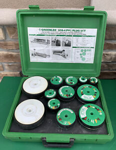 "Greenlee 859 PVC Pipe Bending Bender Plug Set 2""-6"" *NICE SET* #2"