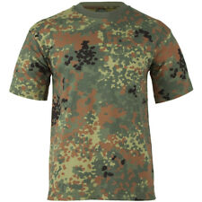 Army Mens Top Combat T-shirt Military Tee BW Flecktarn German Camouflage 185cm