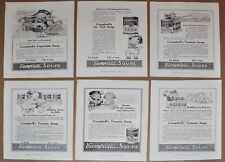 1916 CAMPBELL'S SOUP advertisements x6, Campbell's Kids, George Washington etc