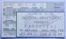Radiohead Original Used Concert Ticket Universal Amphitheatre Los Angeles 1998