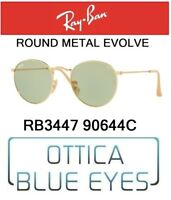RAYBAN ROUND METAL EVOLVE RB 3447 90644C Sunglasses Ray Ban Photochromic GREEN
