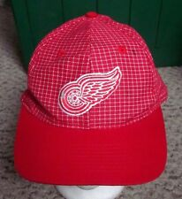 DETROIT RED WINGS baseball hat NHL hockey cap embroidery 1980s space-age grid