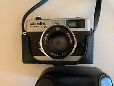 MINOLTA HI-MATIC 7SII CAMERA WITH ROKKOR 40MM 1.7 LENS WITH CASE