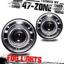 For Chrysler 300 White Halo Projector Clear Lens Chrome Housing Fog Lights Pair