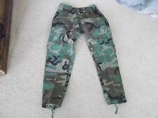 US  ARMY WOODLAND BDU PANTS SIZE SMALL-SHORT