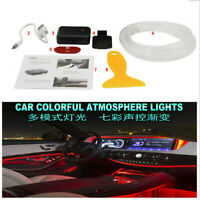 Colorful LED Atmosphere Car Interior Neon Wire Strip Light for Dashboard Decor &