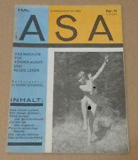 ASA Das Magazin für Körper, Kunst und neues Leben, 2 Jahrgang Nr. 11 1927