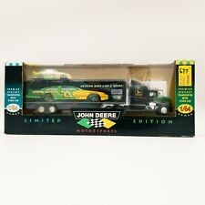 John Deere 1996 Premier Diecast Transporter with Stock Car Limited Edition 1:64