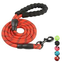 PETnSport 4 FT Dog Leash w/Soft Padded Handle, Heavy Duty Clip & High Reflective