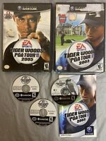 NINTENDO GAMECUBE BUNDLE/LOT GOLF TIGER WOODS PGA TOUR 2005 + PGA TOUR 2003