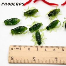 10pcs Artificial Cricket Worm Bait Rubber Lure Crap Insect Bait Gear For Winter