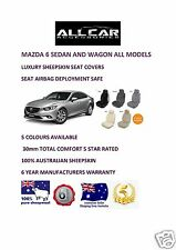 Sheepskin Car Seatcovers for Mazda 6 , Five colours, Seat Airbag Safe 30mmTC