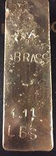 Brass Ingot / Bar, Hand poured, 4.11 Pound (Lb), Ingot Bar