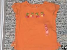 "NWT- Gymboree ""Cherry Baby"" orange cherries top - 12 mo"