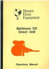 HESTAIR BETTINSON DD DIRECT DRILL OPERATORS MANUAL WITH ILLUSTRATED PARTS LIST