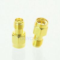 2pcs Conversion Adapter RP*SMA female F to SMA male M RF connector for Antenna