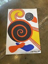 ALEXANDER CALDER art LITHOGRAPH 1969 SPIRALES plate signed EXCELLENT!