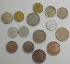 15 old Spanish coins 1970s 1980s 25 Pesetas Football 5 Ptas 1 Pta  Juan Carlos I