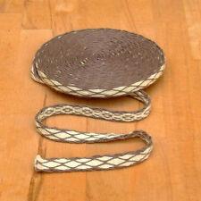 Mittelalter LARP Reenactment Handgewebte Brettchenborte Wolle braun-natur Borte