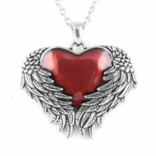 Guarded Heart Necklace Angel Wings Love Pendant Stainless Steel Jewelry Controse