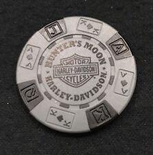 Lafayette, Indiana Hunters Moon Harley Davidson Poker Chip / Gray and Black (v1)