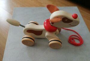 John Lewis Wooden pull along dog  toy