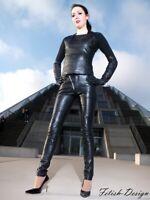 Lederhose Rockey Schwarz Echtes Leder Leggings Slim Fit S M L XL XXL 3XL 4XL 5XL