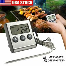 LCD Digital Meat Thermometer Barbecue Cooking Oven BBQ Grill Temperature w/Probe