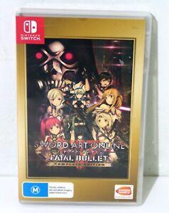Sword Art Online Fatal Bullet Complete Edition - Nintendo Switch - Free Postage