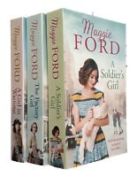 Maggie Ford 3 Books Romance Family Saga Soldier's Girl Factory Girl Wartime New