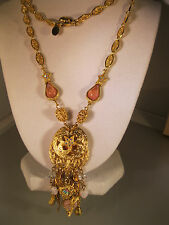 """KIRKS FOLLY VERY CHARMING """"NECKLACE W/STARS/HEARTS & PINK STONES"""" GORGEOUS #5 N"""