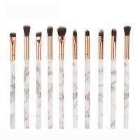 10pcs Makeup Brushes Kit Set Powder Foundation Eyeshadow Eyeliner Lip Brush Tool