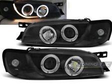 98-01 Subaru Impreza Head Lights Halo Projectors Black