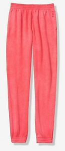 NWT VICTORIA'S SECRET PINK CAMPUS JOGGER PANTS CORAL PINK SMALL FREE SHIPPING